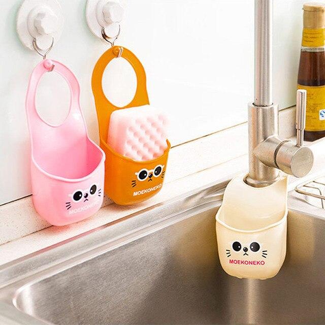 Criativo Folding Silicone Pendurado Produtos Organização Cozinha Casa de Banho Saco De Armazenamento Em Casa Acessórios de Cozinha Nova Ferramenta Quente