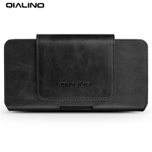 QIALINO Genuine Leather Holster Case for Samsung Galaxy S8 Plus