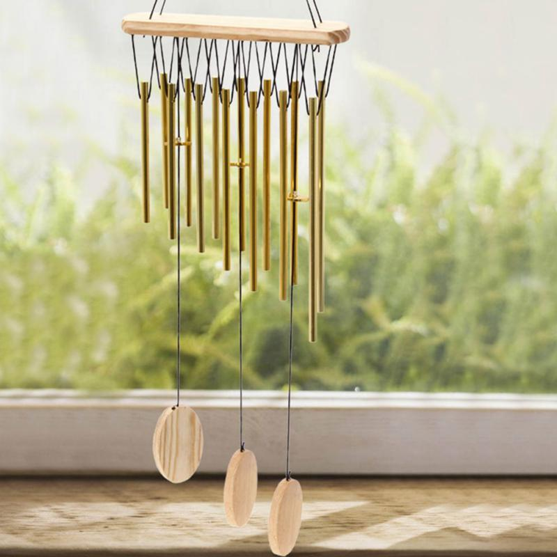 9 Tubes Windchime Chapel Hoods Windbell Door Hanging Home Decor Crafts Relax Feeling New