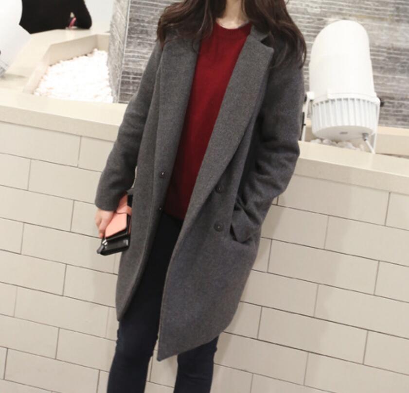 2018 Autunno E Inverno Nuovo Cappotto Versione Coreana Del Femminile Lungo Paragrafo Semplice Vestito Lungo Cappotto Di Cachemire Di Scorpione Di Spessore Distintivo Per Le Sue Proprietà Tradizionali