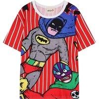 Women T Shirt 2017 Summer Superhero Cartoon Japanese Character Pattern Printed T Shirt Tee Top Clothing