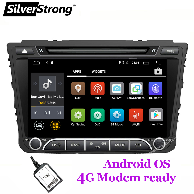 SilverStrong Quad 4 Core Android8.1 4g SIM Auto DVD Für Hyundai Creta IX25 2014-18 mit 2 gb RAM 4g MODEM GPS Radio Navigation