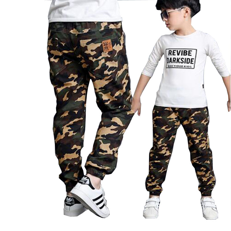 Boys Pants Children Outdoor Camo Trousers Kids Army Design