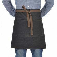 Original KEFEI Unisex japonés delantal cintura Denim delantal Barista Vintage medio delantal de cocina hombres Pinafore alta calidad