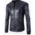 Hot Sell Men Leather Jacket Stand Collar Men's Faux Leather Autumn Winter Jacket Men Leather High Quality warm Tops