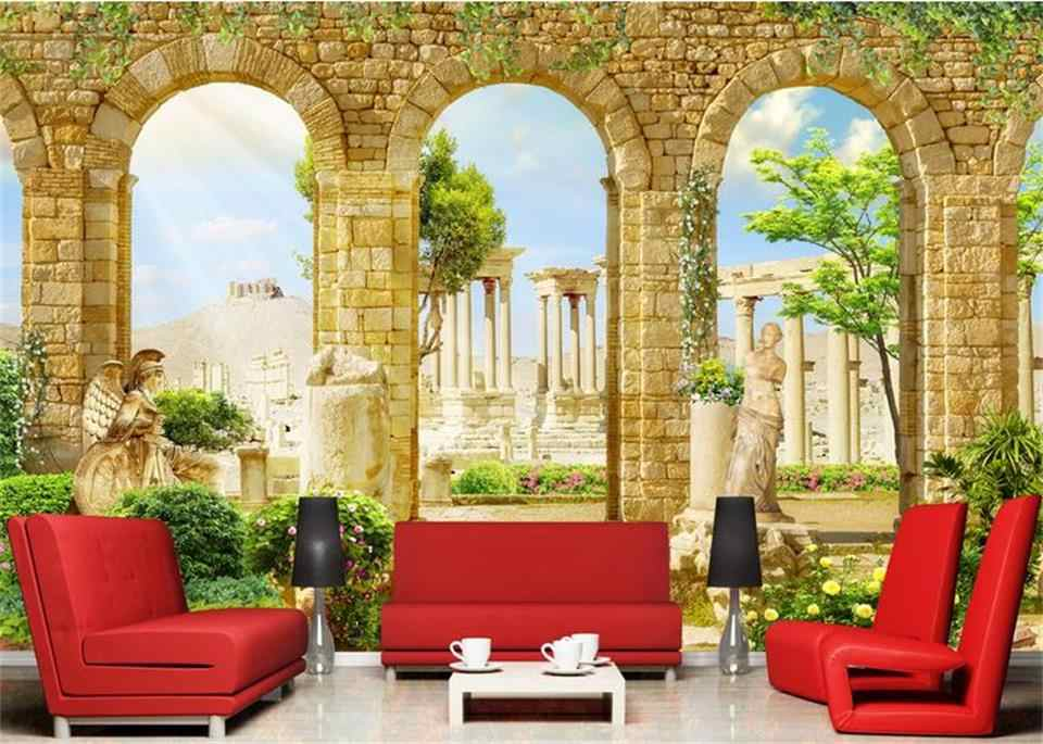 Custom Living Room Mural 3d Photo Wallpaper Greek Ancient Roman