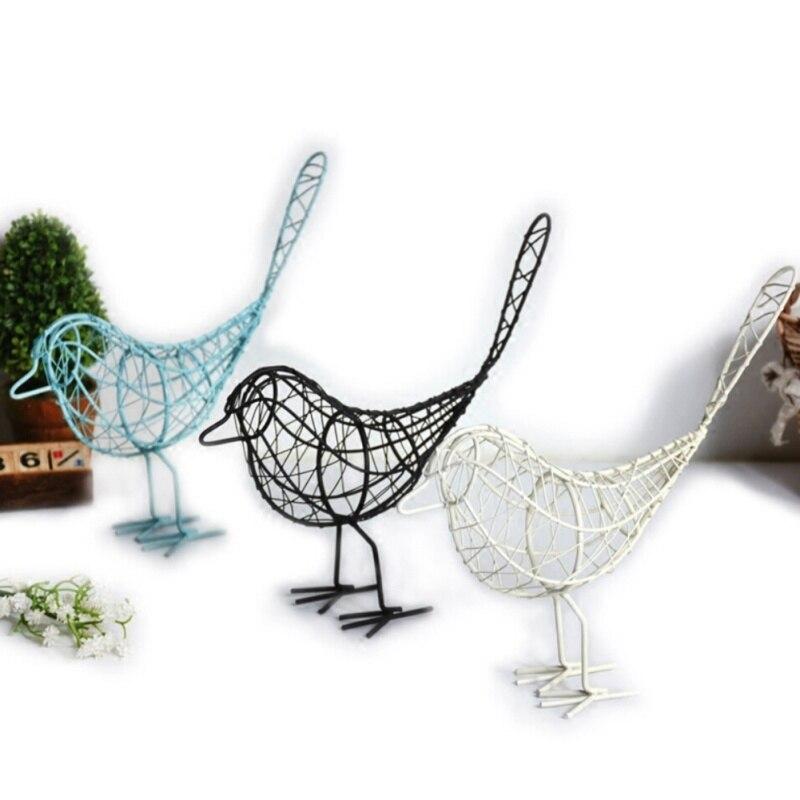 Metall Eisen Draht Vogel Hohl Modell Künstliche Handwerk Modische Einrichtungs Tisch Schreibtisch Ornamente Dekoration Geschenk Drop Shiping