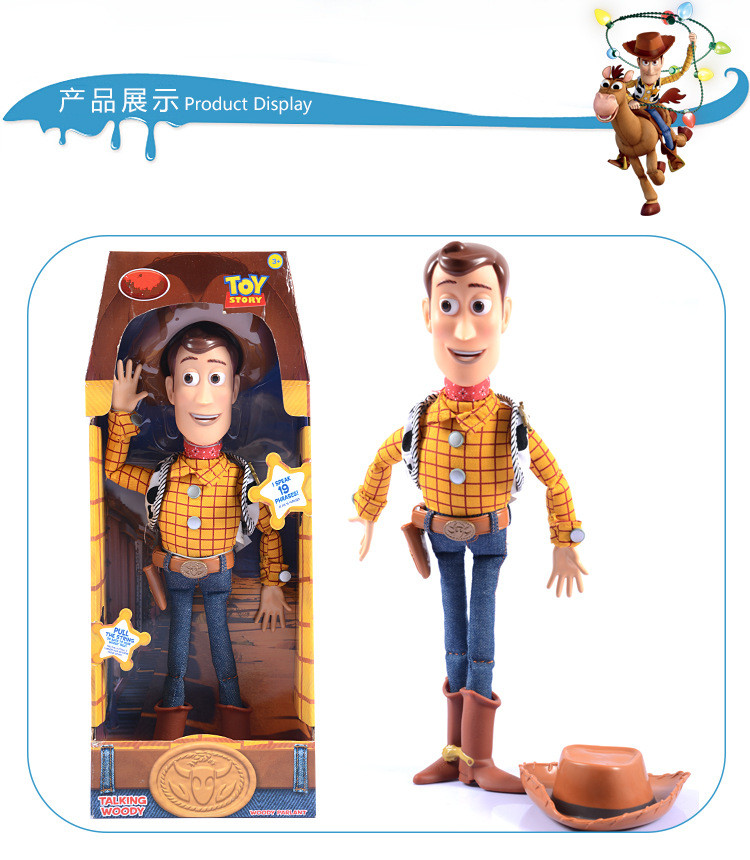 Toy Story 3 Talking Woody PVC Action Figure Collectible Model Toy Doll zy532 woody action figure doll toy with hard plastic head and hat