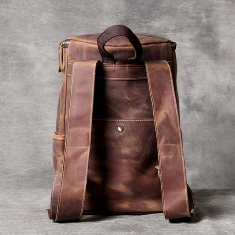 AETOO Simple wild shoulder bag header leather retro leather backpack male original manual large-capacity bucket bag travel bag