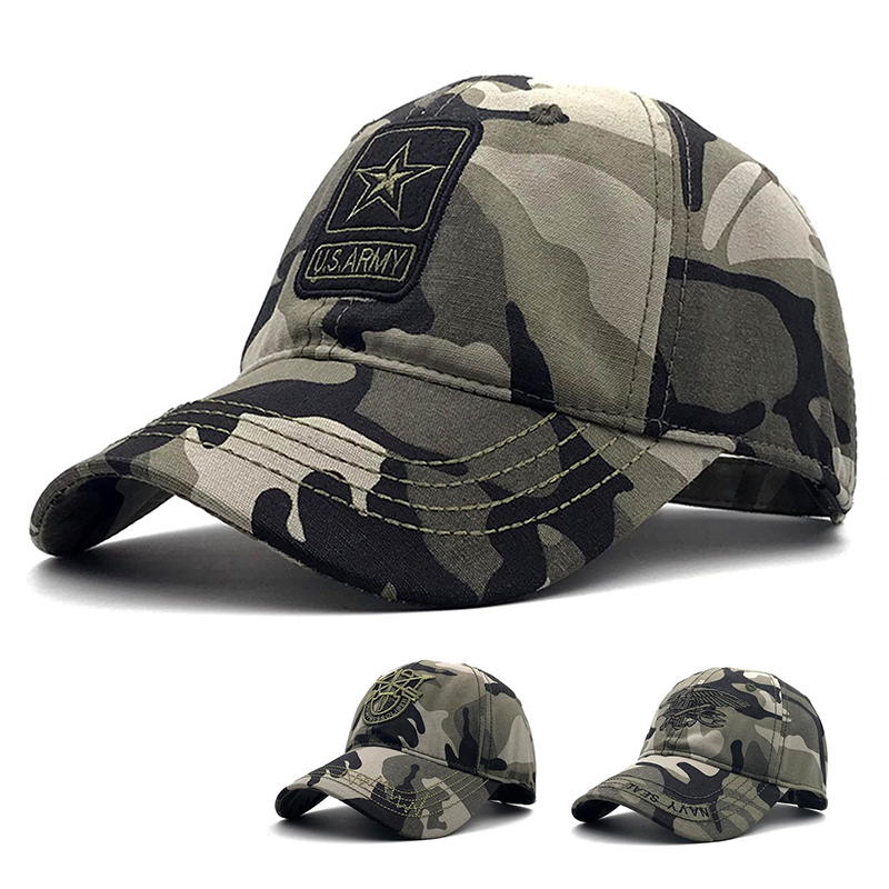 6214ac8a6cb US Army Camo Baseball Cap Fishing Caps Men Outdoor Hunting Camouflage Navy  Seal Hat Airsoft Tactical