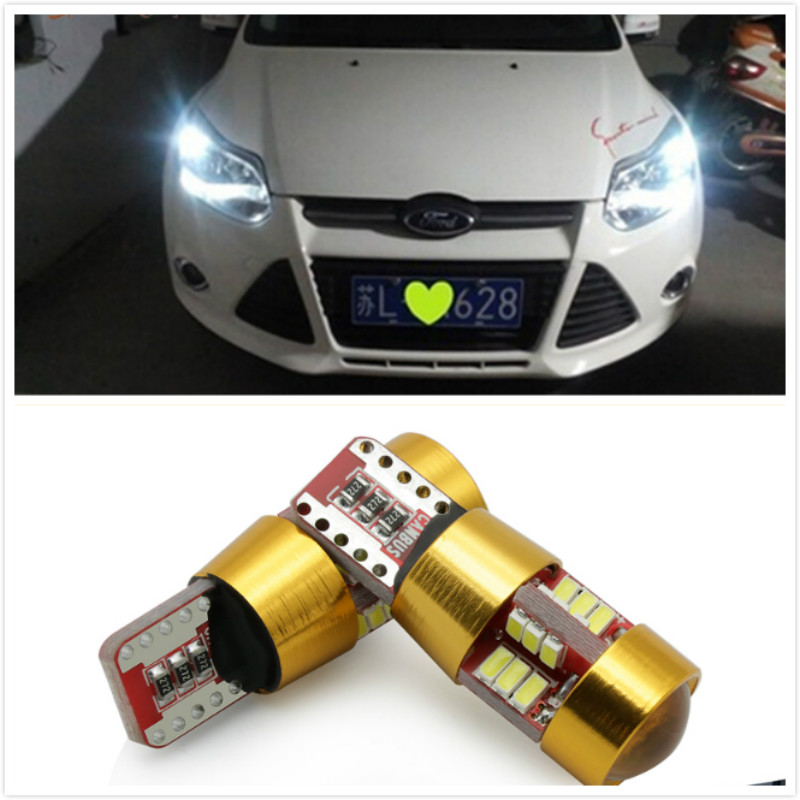 2x T10 3014 Canbus Car Clearance Parking Light For Ford Focus 2 3 4 1 Fiesta Fusion mondeo mk3 mk4 kuga <font><b>mustang</b></font> ka accessories image