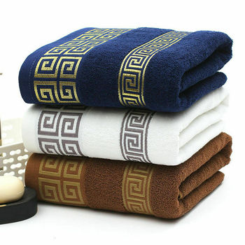 Bath Towel 100% Cotton Luxury Soft Absorbent Adult Household Towel Beach Towel Travel Gym Sport Camping Swimming Pool Quick Dry 1