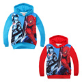2016 Spider-man children hoodie outwear animal Long Sleeve sweatshirt Cartoon autumn baby boy winter clothes for girl coat fille