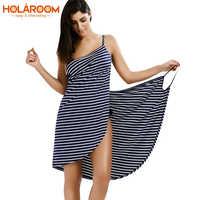Serviette de bain peignoir rayé plage robe Wrap femmes serviettes de bain séchage rapide fronde vêtements robe de plage robe de plage vacances natation