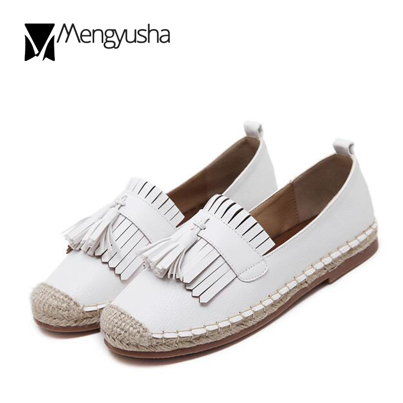 Creepers Tricot blanc Zapatos Confortable Mujer Marque Mocassins Peu Gland Sapato Feminino Espadrilles Noir Bout Profonde Rond Femmes Chaussures Plat 2018 5qHwgZH