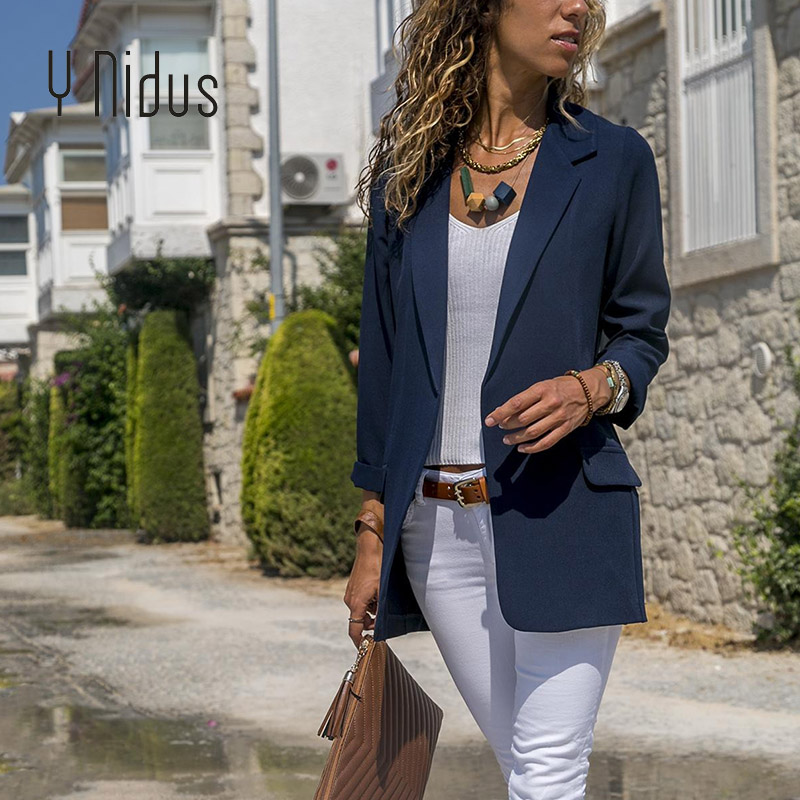 font b Slim b font Blazers Women Autumn Suit Jacket Female Work Office Lady Suit