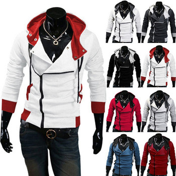 Stylish Assassins Creed Hoodie Men's Cosplay Assassin's Creed Hoodies Cool Slim Jacket Costume Coat Big Size