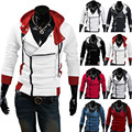 Stylish Assassins Creed Hoodie Men's Cosplay Cool Slim Jacket Costume Coat