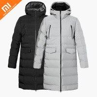 Оригинальный xiaomi mijia Uleemark мужской длинный отрезок бесшовный пуховик 90% утиный пух зимняя мужская длинная хлопковая куртка умный дом