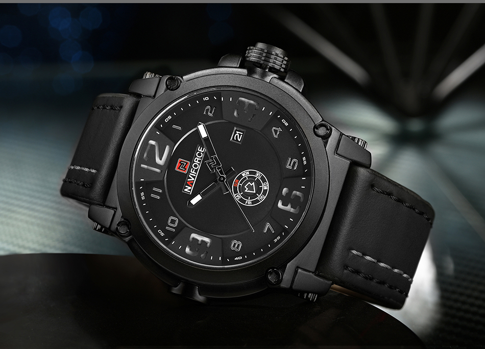 IA2A4027  High Model Luxurious NAVIFORCE Males Sports activities Watches Males's Military Navy Leather-based Quartz Watch Male Waterproof Clock Relogio Masculino HTB15Qn