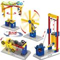 SuSenGo Mechanical Engineer Building Blocks 3 in 1 Children Kids Science Educational Toys Gift