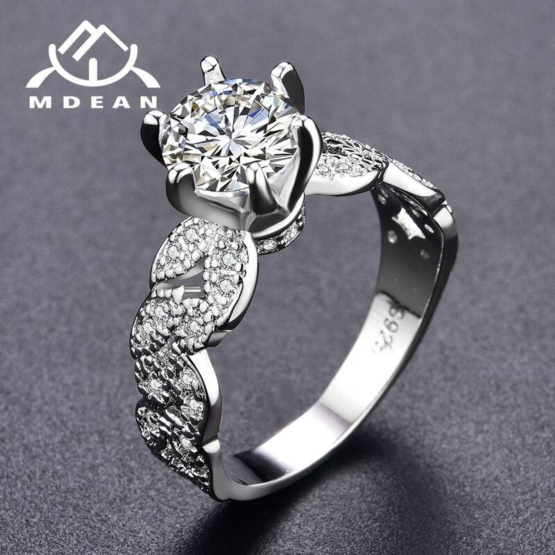 Click here to Buy Now!! MDEAN обручальные кольца для женщин белого золота  ... cb89cc5a5f3