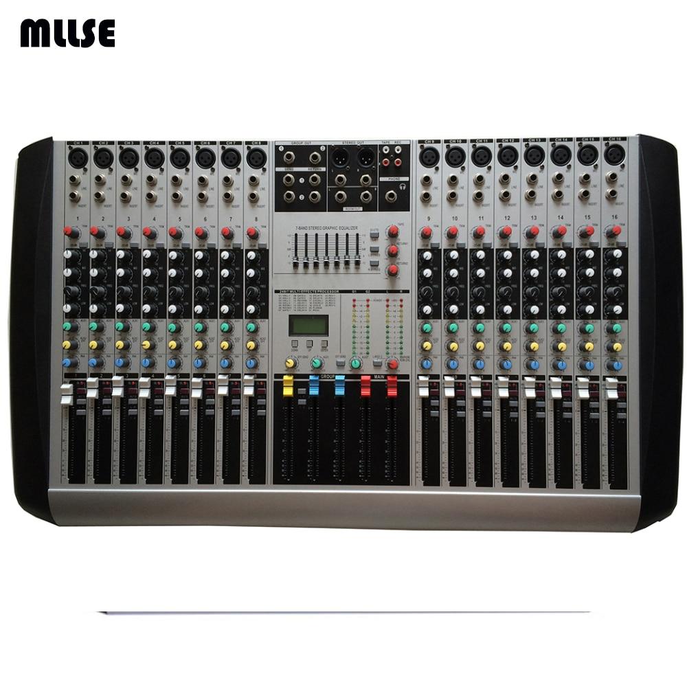 hx1602 new professional audio dj mixer 16 channels mixing console mezcladora de dj in karaoke. Black Bedroom Furniture Sets. Home Design Ideas