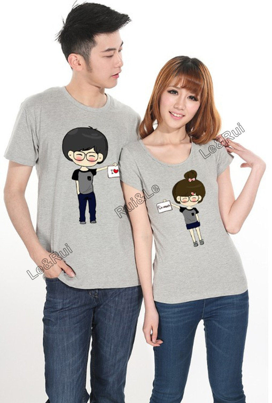 5b3e5667db men women fashion couple t shirt tops for 2015 lovers summer clothes  printed brand designer cartoon boy girl i love you bow lace