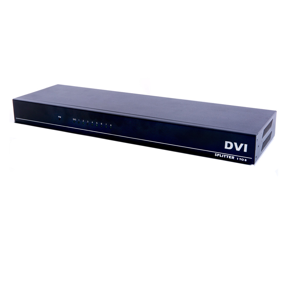 Image 2 - 8 портов разделитель DVI, Dual link DVI D 1X8 сплиттер адаптер дистрибьютор, разъем 4096x2160 5VPower для камера видеонаблюдения