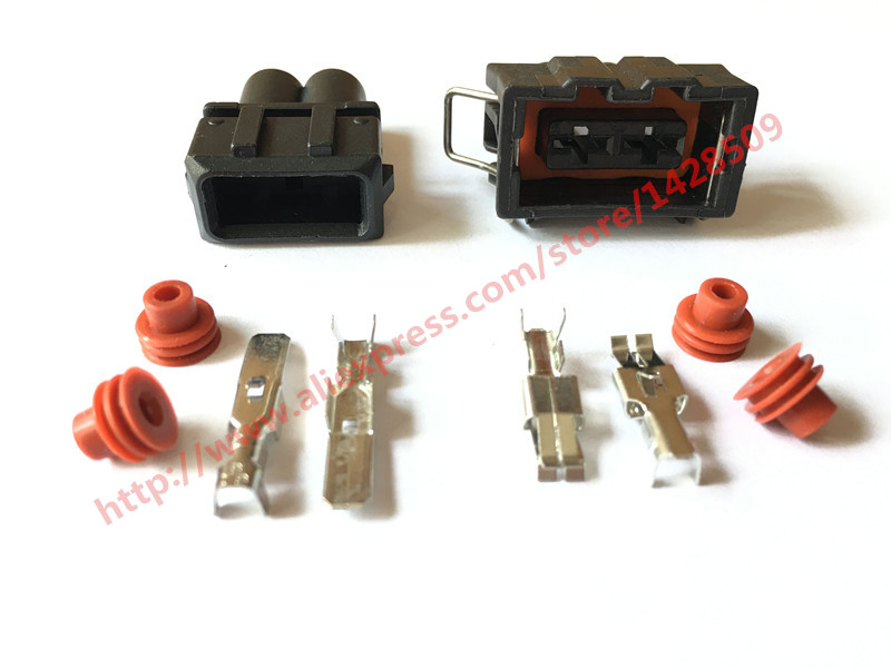 5 set 2 pin female male kit sound horn connector wire