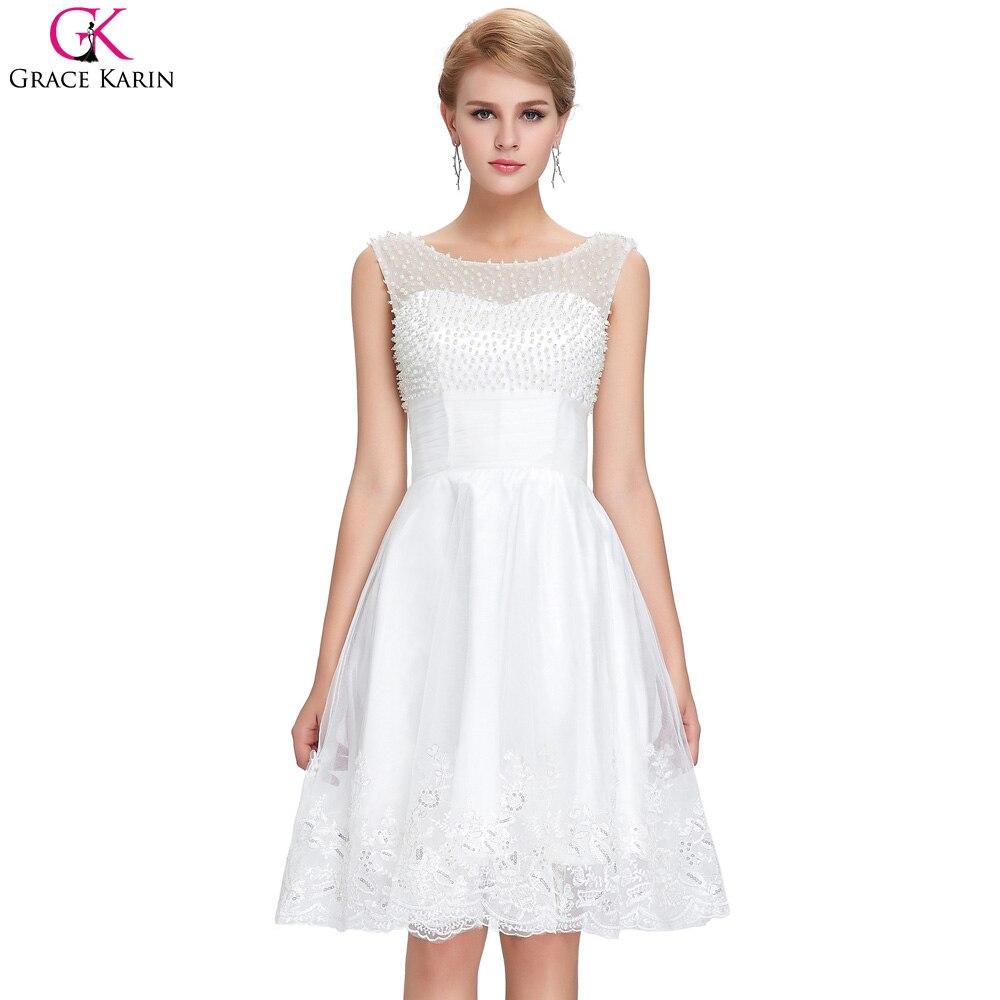 Online Get Cheap Short White Wedding Dresses Aliexpresscom