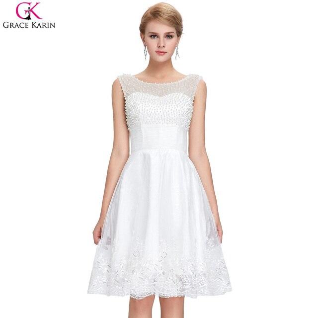 Weiße kurze brautkleider grace karin sexy spitze hochzeitskleid a ...