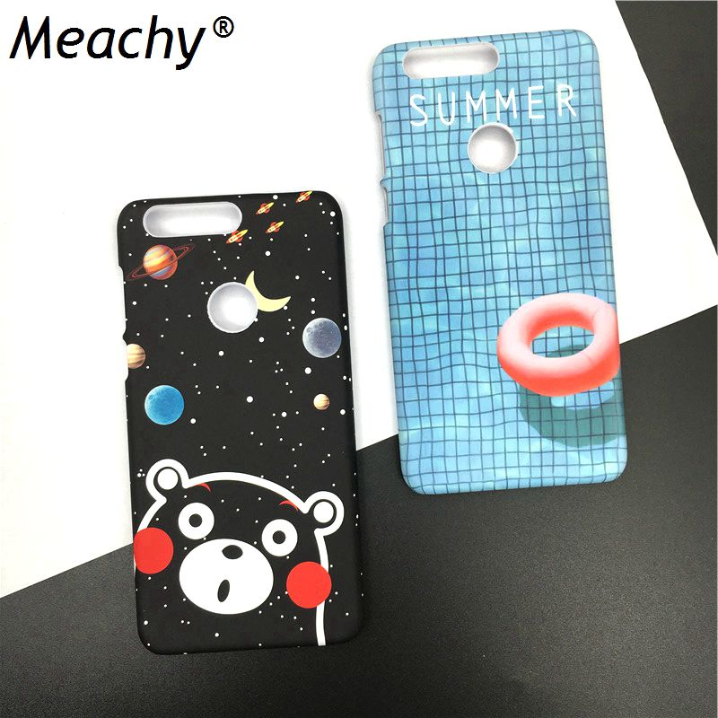 Meachy Swimming Pool Cute Cases For Huawei Honor 8 Planet Case PC Hard Plastic Back Cover Honor 8 Phone Case Fundas Coque S15