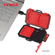 LYNCA Card Reader+22 in 1 Waterproof Memory /SD Case Storage Box for 1Standard SIM+2Micro-SIM+2Nano-SIM+7SD+6TF+1CARD PIN