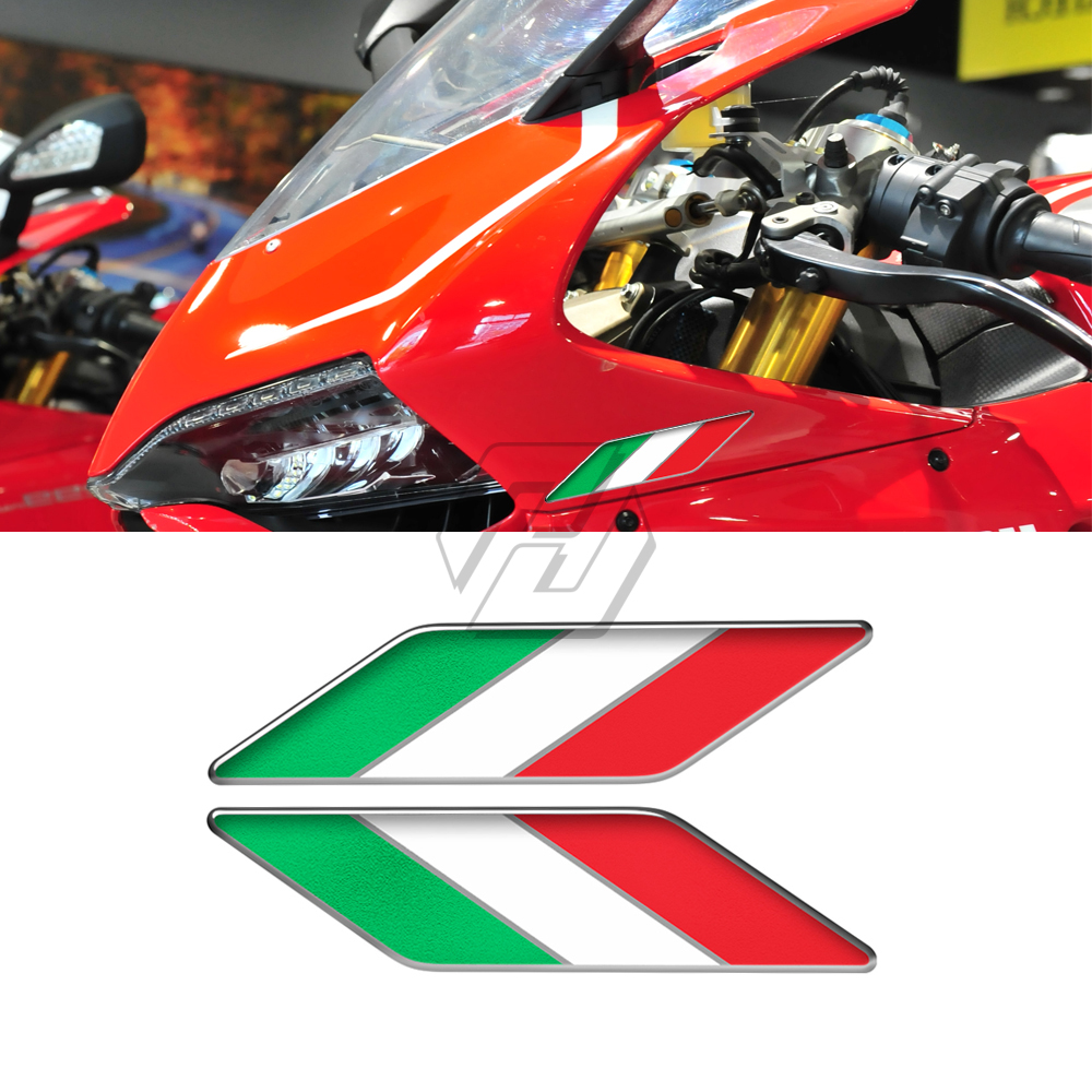 3D Motorcycle Tank Decals Italy Wing Sticker Italia Decals Case for Aprilia Ducati Yamaha Suzuki KTM BMW MV Kawasaki