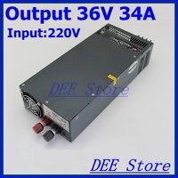 Светодиодный драйвер 1200 Вт 36 В 34a один Выход AC 220 В к DC 36 В Переключение блок питания для светодиодные ленты свет