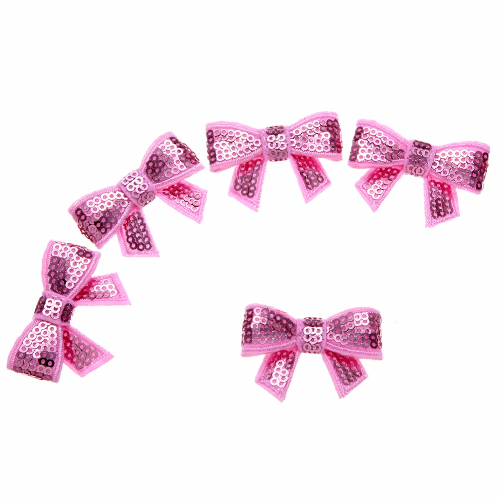 200pcs lot 1 77 39 39 6Colors Shiny Sequin Felt Bows DIY Fashion Applique Headband Bows Baby Girls Accessory Kidocheese in DIY Craft Supplies from Home amp Garden