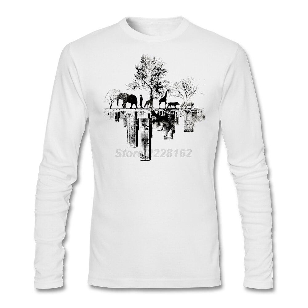 Shirt design unique - Short Slim Family T Shirt Website Man Nature And Urban Sprawl Collide Shirt Duality Unique