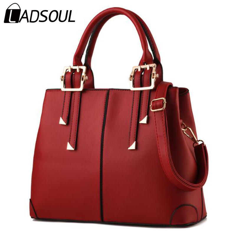 Ladsoul 2017 New Fashion Women Leather Handbags Women Bolsos Qood Quality Women Messenger Bags Shoulder Bags Women Bags ls4600/g