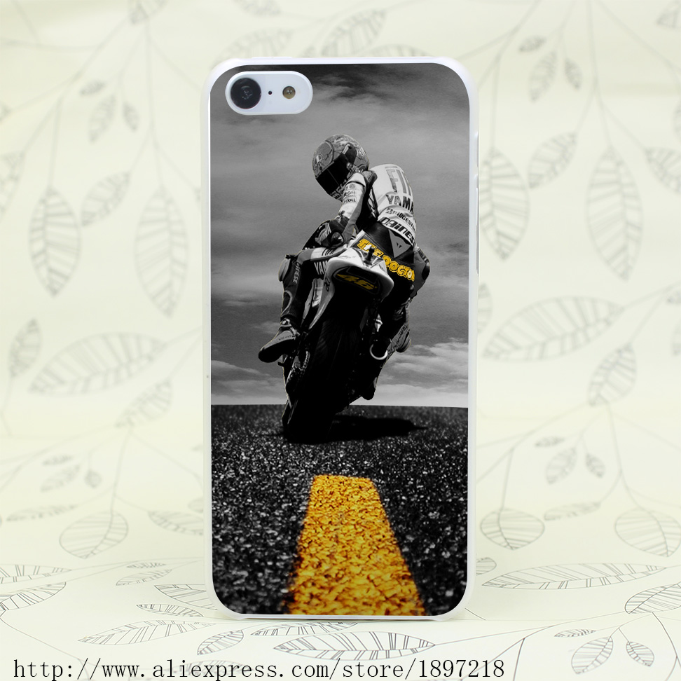 4774T Valentino Rossi 46 Superbike Hard Transparent Cover Case for iphone 4 4s 5 5s 5C SE 6 6s Clear Cell Phone Cases