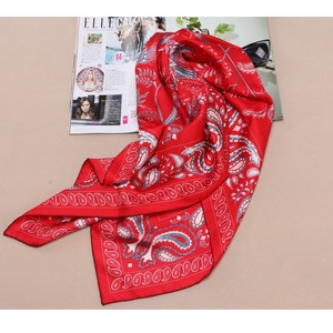 Image 5 - 90 Silk Scarf Large Square Silk Twill Scarfs Shawl Foulard Head Scarves for Hair Wrapping Hijab