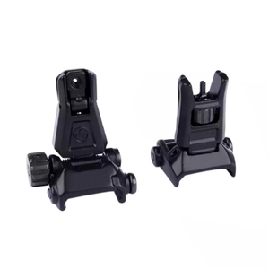 Image 5 - Rear Sight Tactical Flip Up Rapid Transition BackUp Front & Rear Sight Set for 20mm Picatinny RIS /RAS Rail Hunting Scope Mount