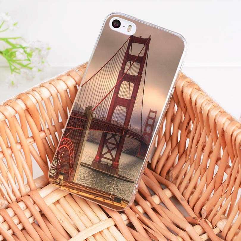 MaiYaCa Mỹ phong cảnh Cầu Cổng Vàng Sang Trọng Đứng Ốp lưng điện thoại Apple iPhone 8 7 6 6S 6S Plus X 5 5S SE 5C 4 4S