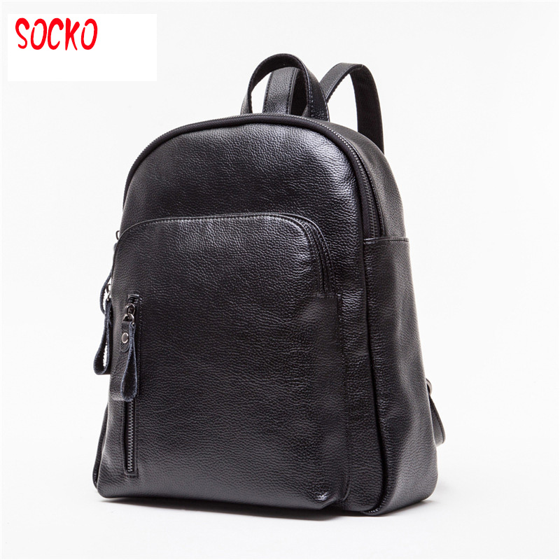 2017 New women s pu leather backpacks female school shoulder bags girls college student casual bag