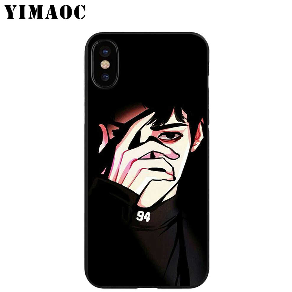 YIMAOC Exo Baekhyun Bands Soft TPU Black Silicone Case for iPhone X or 10 8 7 6 6S Plus 5 5S SE Xr Xs Max