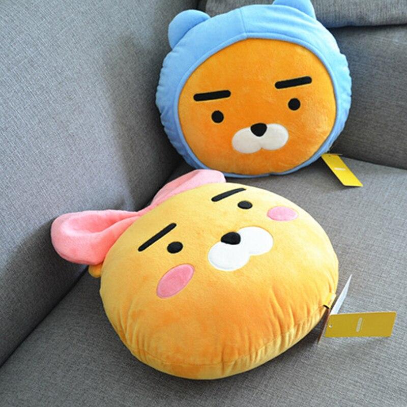 35cm Korea Ryan Kakao Friends Plush Pillow Stuffed Kawaii Brown Bear Doll Cute Cocoa Kids Children Love Toys Valentine's Gift pernycess 1pcs 130cm bear cute oversized pillow stuffed toys
