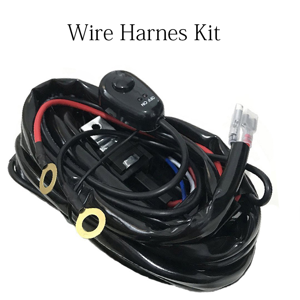 Universal Fit Wire Harness Kit with Fuse and Relay for Led Light Bar Led Work Light Led Driving Off-road Lamp 12V Truck Pickup