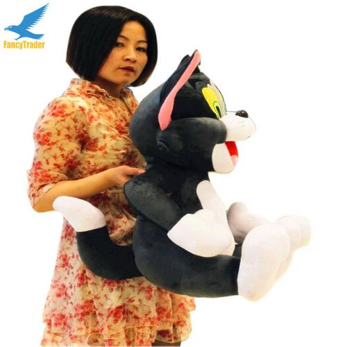 Fancytrader 2 pcs 26\'\' 65cm Big Plush Soft Cute Stuffed Giant Tom and Jerry Toy, Great Gift For Kids FT50217 (3)