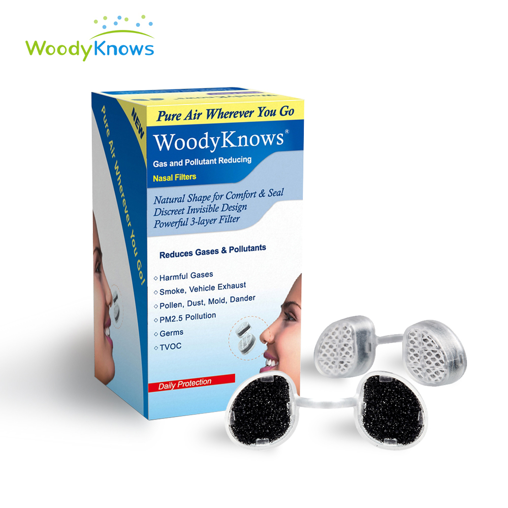 Pm2.5 Pollen Air Pollution Gases Nasal Mask Gas And Pollutant Reducing Nose Nasal Filters Anti Second-hand Smoke Smog Dust