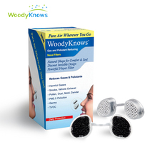 Gas and Pollutant Reducing Nose Nasal Filters Anti Second-hand Smoke, Smog Dust, PM2.5 Pollen  Air Pollution Gases Nasal Mask woodyknows invisible nose nasal filters for flu haze pollen